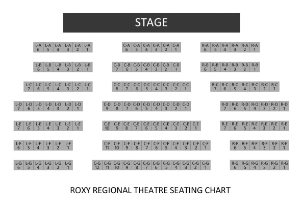 Roxy Regional Theatre seating chart