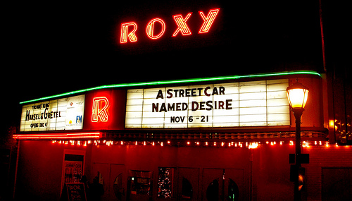 Roxy Regional Theatre marquee