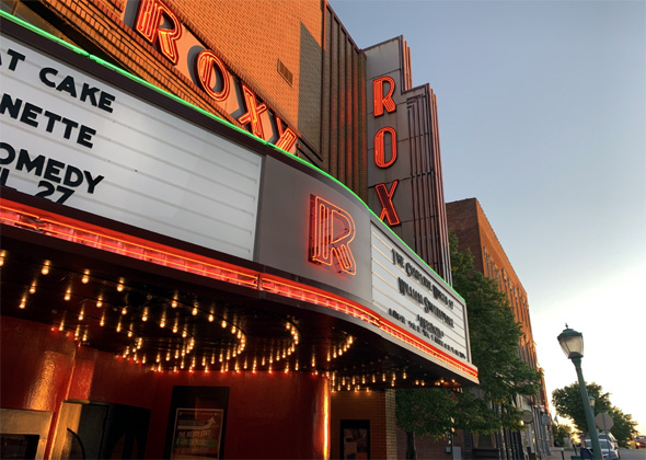 Roxy Regional Theatre marquee